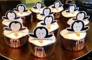 Penguin Cupcakes, terminados